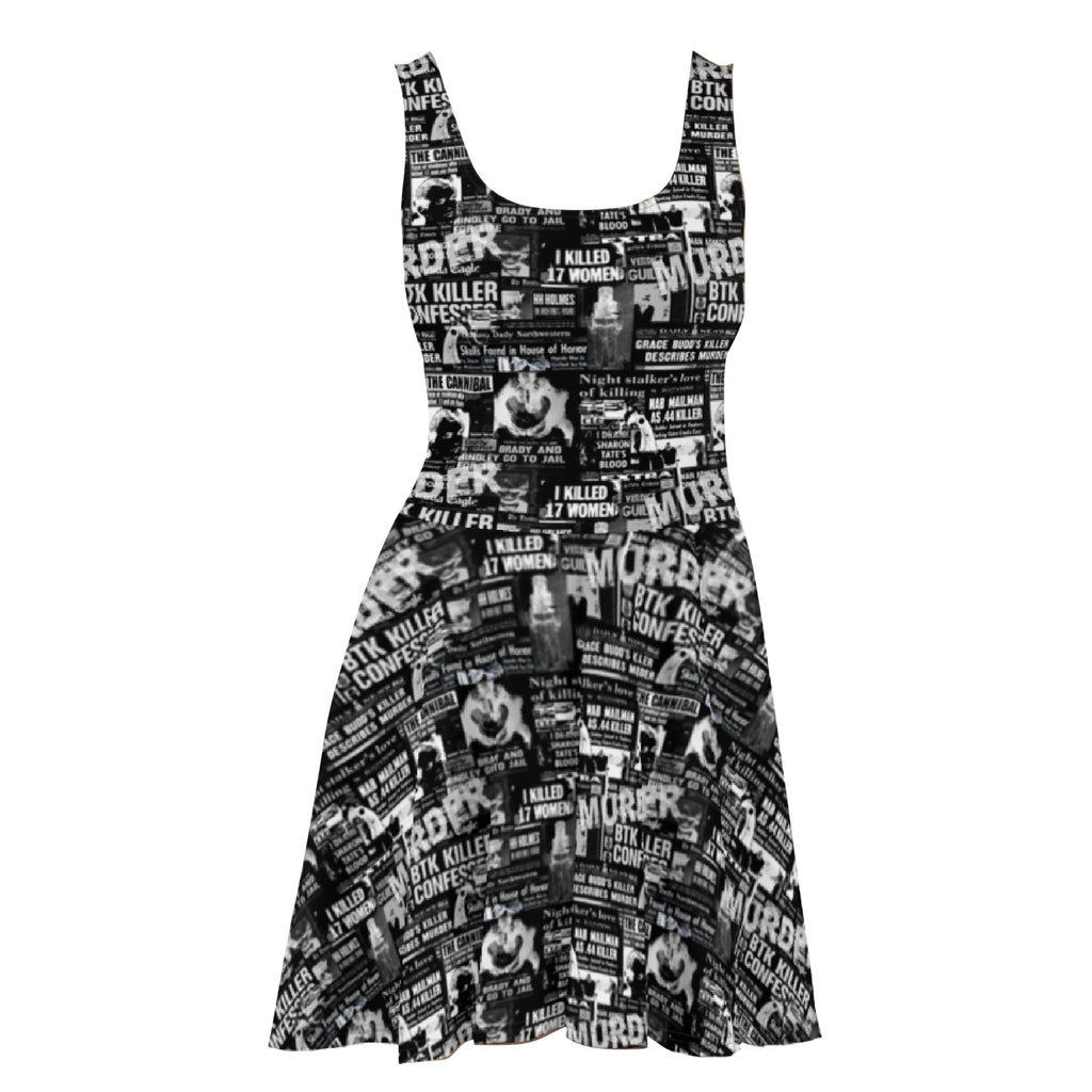 Murder News  Skater Dress Black