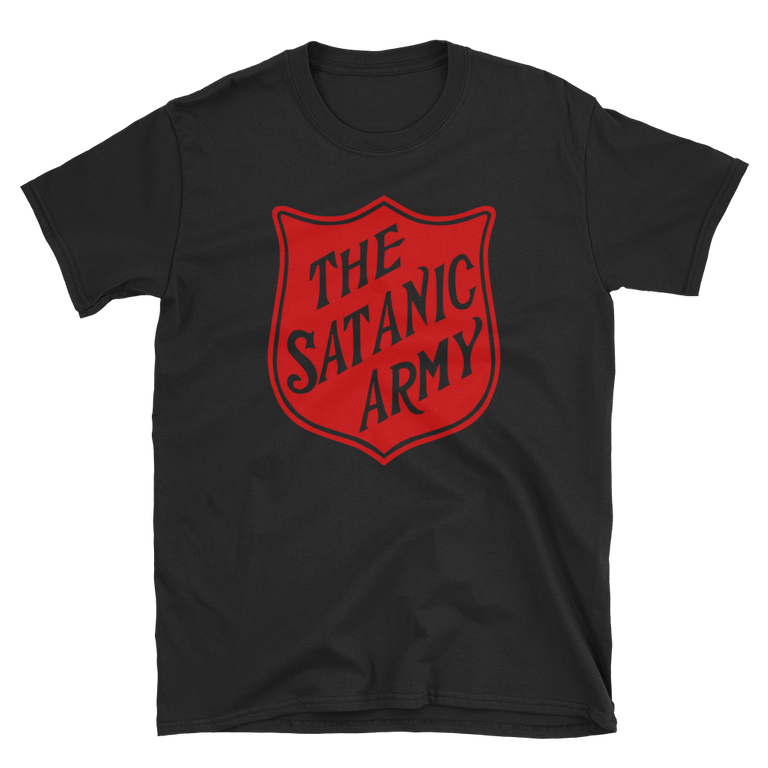 """The satanic army"" T-shirt"
