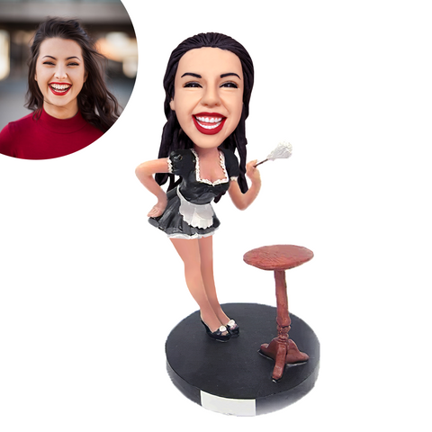 French Maid Custom Bobblehead