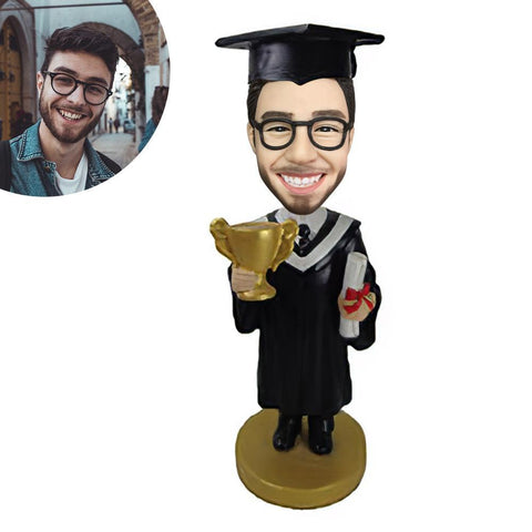 Graduated with a trophy Custom Bobblehead