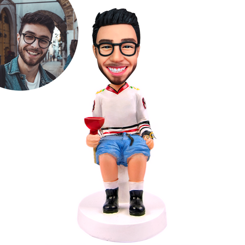 Man on Toilet Custom Bobblehead