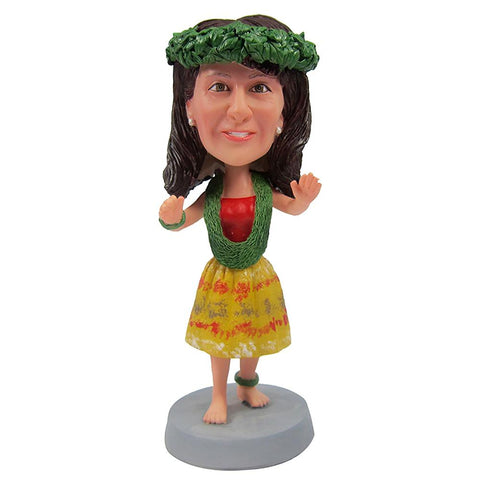 Beautiful  Hawaiian Dance Custom Bobblehead