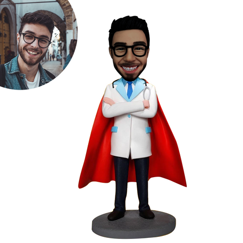 Super Doctor With Stethoscope Custom Bobbleheads