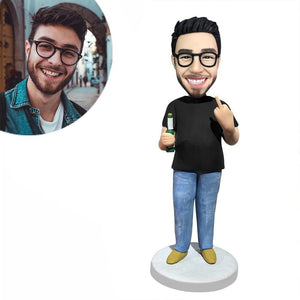 Beer Is My Life Custom Bobblehead LEISURE My Bobblehead