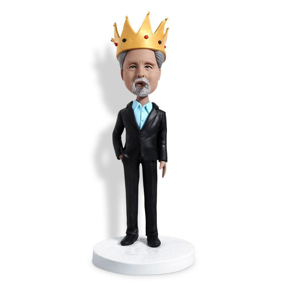 Boss With Crown Custom Bobblehead WORKS My Bobblehead