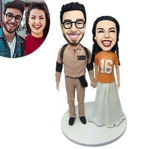 Casual Couple Custom Bobblehead COUPLES My Bobblehead