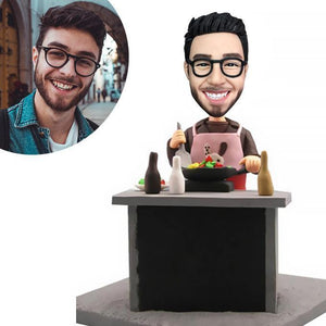 Chef Custom Bobblehead WORKS My Bobblehead