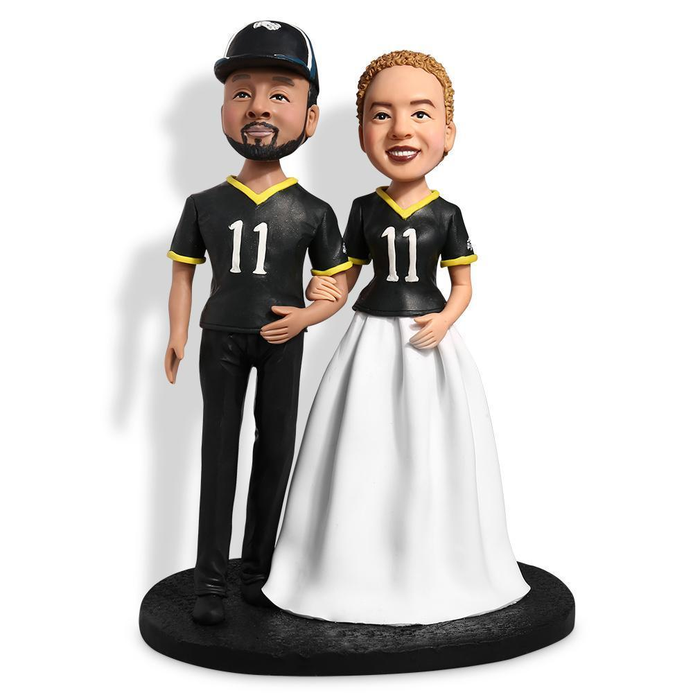 Couple in sport jersey Custom Bobblehead COUPLES My Bobblehead