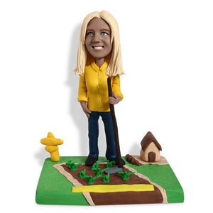 Female Farmer Custom Bobblehead WORKS My Bobblehead