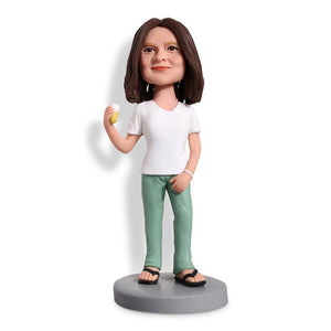Female Holding Ice Cream Custom Bobblehead WORKS My Bobblehead