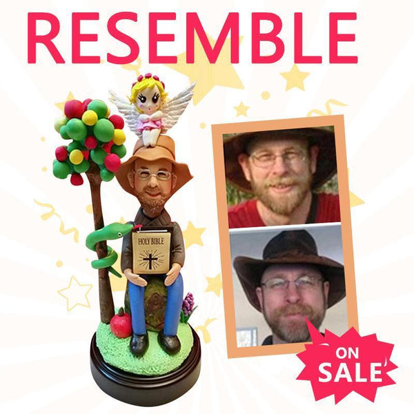 Fully Customizable 1 Person add a Medium Sized Background Custom Bobblehead 100% CUSTOM My Bobblehead