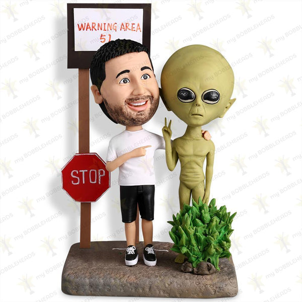 I Found the Alien Storm Area 51 Custom Bobblehead LEISURE My Bobblehead