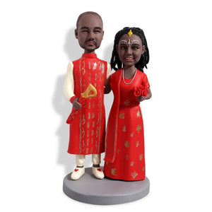 India traditional costume Wedding Custom Bobblehead WEDDING My Bobblehead