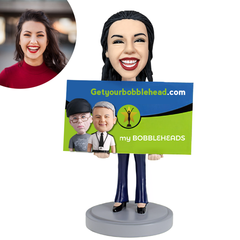 Show business card Custom Bobblehead
