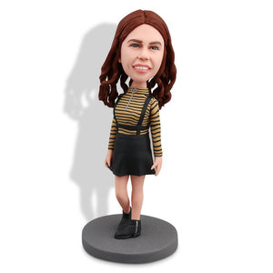 Lady With Strap Dress Custom Bobblehead LEISURE My Bobblehead