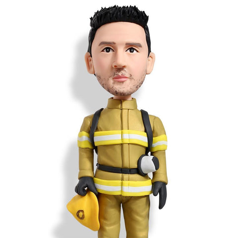 Male Firefigther/Firemen Custom Bobblehead WORKS My Bobblehead