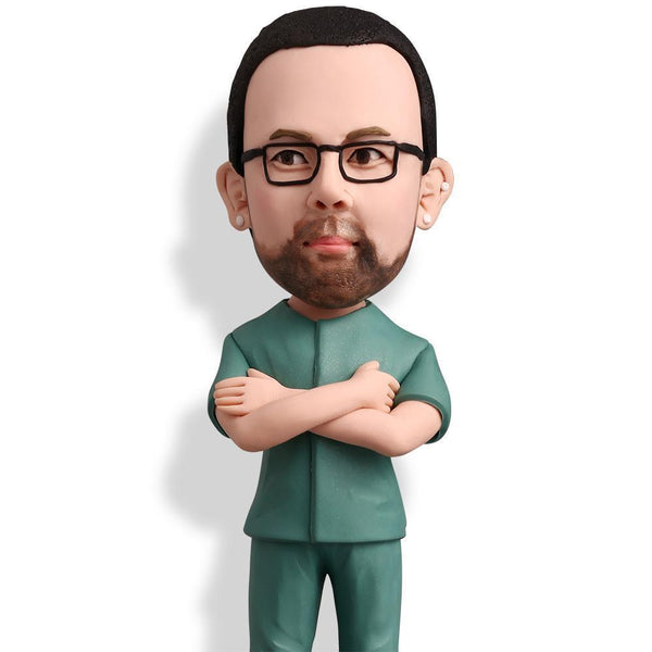 Male Nurse Custom Bobblehead WORKS My Bobblehead
