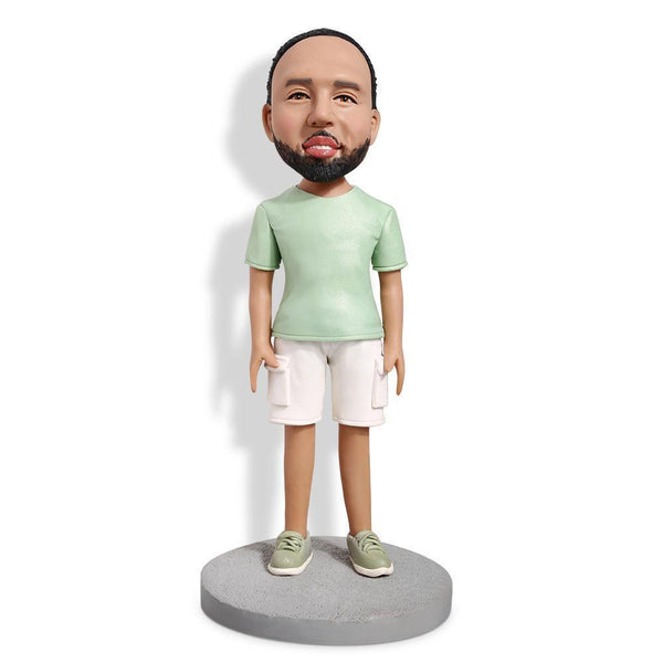 Men's Daily Clothing Custom Bobblehead LEISURE My Bobblehead
