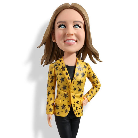 Office Lady Custom Bobblehead WORKS My Bobblehead