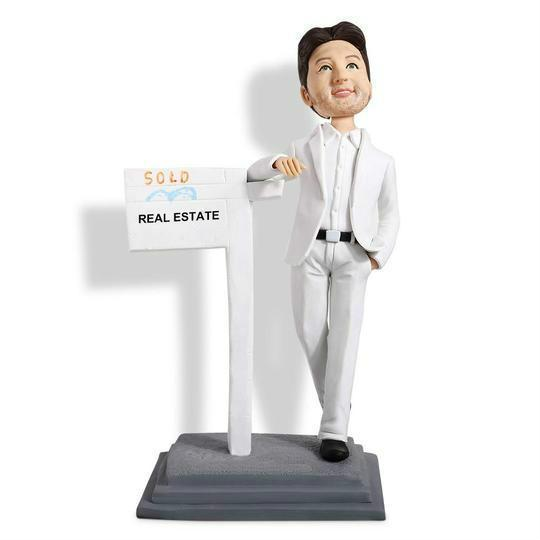 Real Estate Agent Custom Bobblehead WORKS My Bobblehead