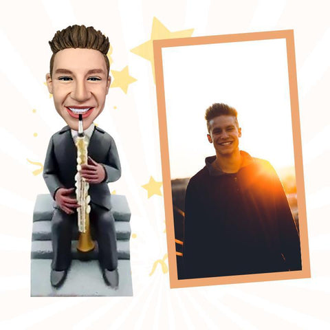 Saxophone Player Custom Bobblehead Musician My Bobblehead