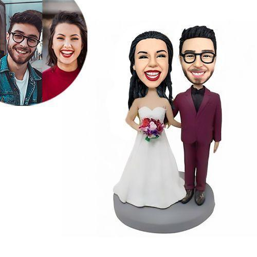 Wedding With Red Suit Custom Bobblehead WEDDING My Bobblehead