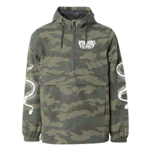 "Load image into Gallery viewer, ""Snake"" Camo Anorak Windbreaker"
