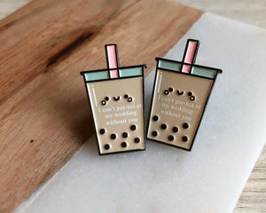 """Par-tea"" wedding pins"