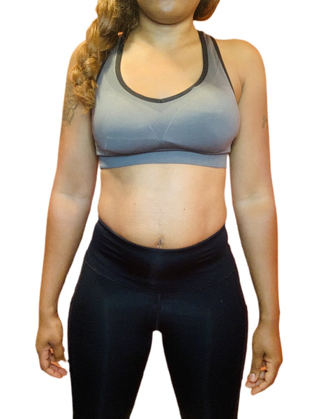 Women's Cut Out Detail Sports Bra (Charcoal) - ShopChayah