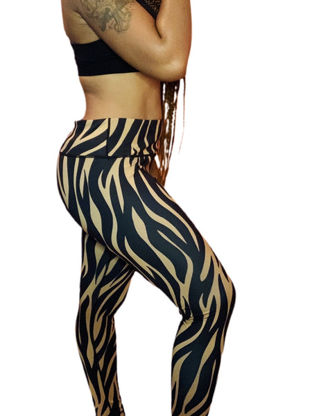 Tiger Striped High Waist Legging - ShopChayah