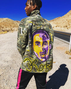 Kobe Bryant camo jacket: The Man, The Myth, The Legend