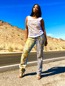 Golden jeans (set)