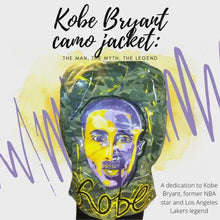 Load and play video in Gallery viewer, Kobe Bryant camo jacket: The Man, The Myth, The Legend