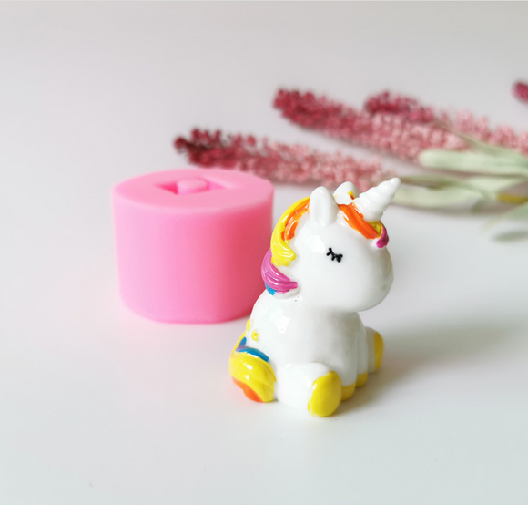 full unicorn straw topper mold