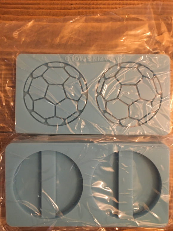 Soccer ball straw topper mold