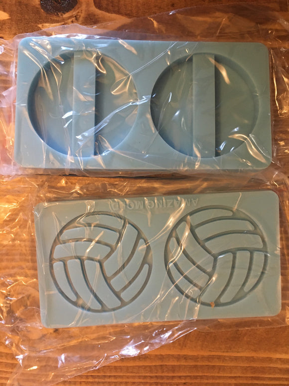 Volleyball straw topper mold