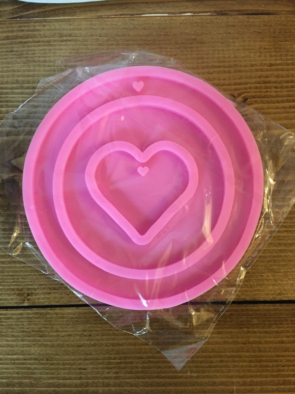 Heart/ circle coaster mold