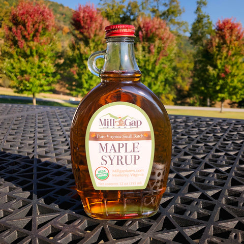 12 oz Maple Flask - Organic Maple Syrup