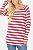 Red/White Striped Top