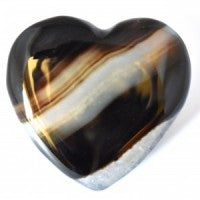 Agate Black & White Heart-Miss V's Luminous Crystals