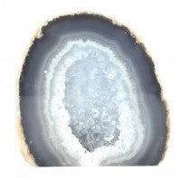 Agate Geode Half Natural-Miss V's Luminous Crystals