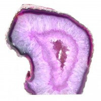 Agate Geode Half Pink-Miss V's Luminous Crystals