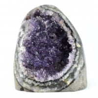 Amethyst Cluster Standing Cut Base-Miss V's Luminous Crystals