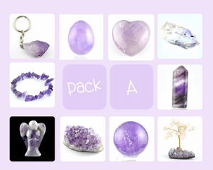 "Amethyst Starters Collection Pack ""A""-Miss V's Luminous Crystals"