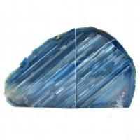 Blue Agate Bookend-Miss V's Luminous Crystals