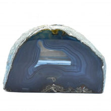 Load image into Gallery viewer, Agate Tall Blue Candle Holder-Miss V's Luminous Crystals