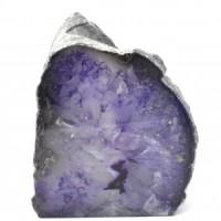 Load image into Gallery viewer, Agate Tall Purple Candle Holder-Miss V's Luminous Crystals