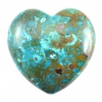 Chrysocolla Small Heart-Miss V's Luminous Crystals