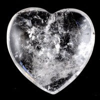Clear Quartz Medium Heart-Miss V's Luminous Crystals