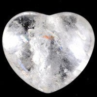 Clear Quartz Puffy Medium Heart-Miss V's Luminous Crystals